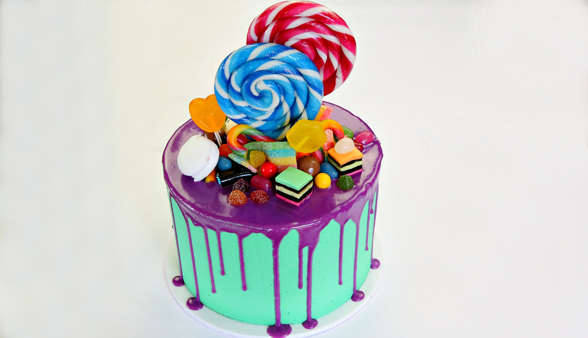Lollipop Topped Cake