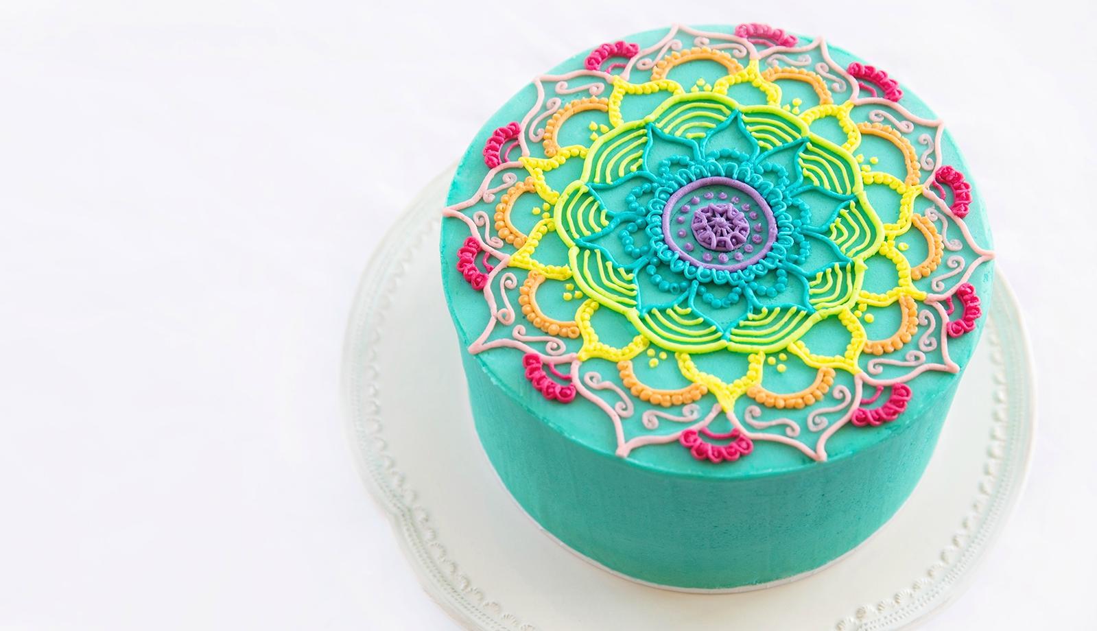 Half Cirlce Birthday Cake