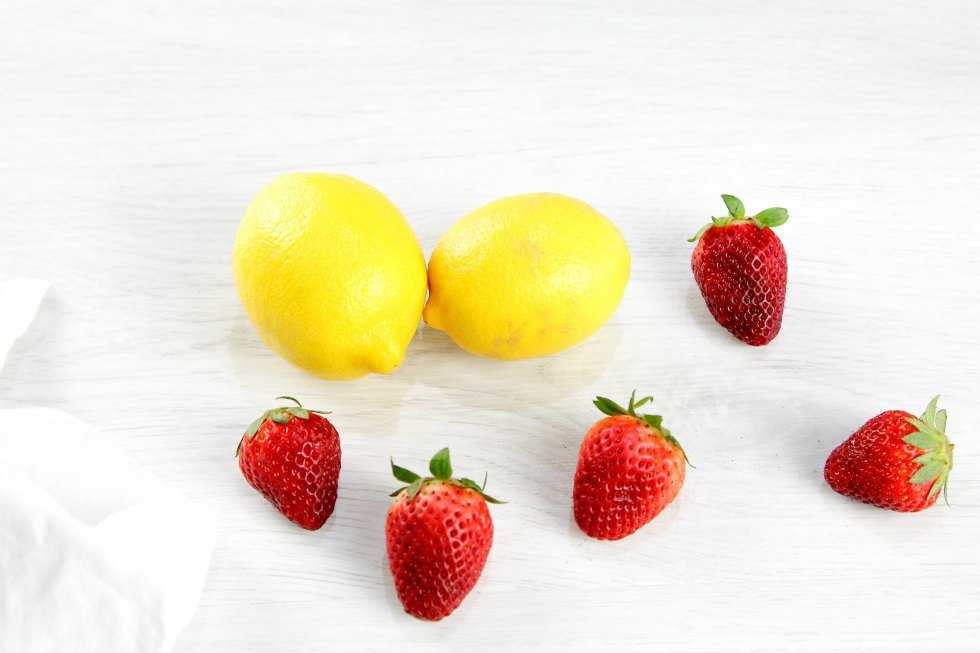 lemon and strawberries