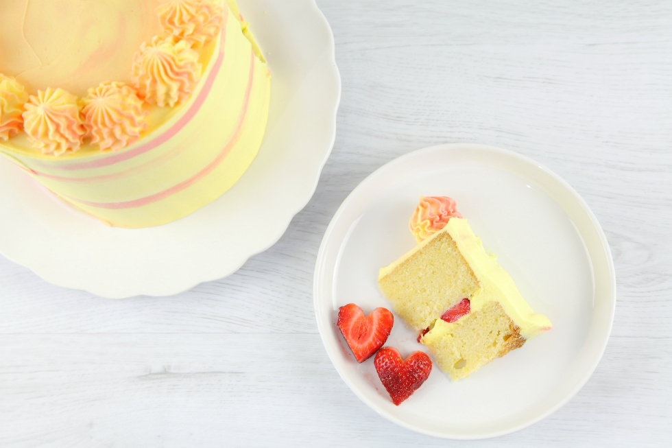 Lemon strawberry cake recipe