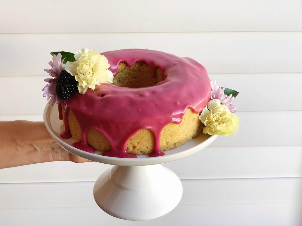 Orange almond blackberry cake