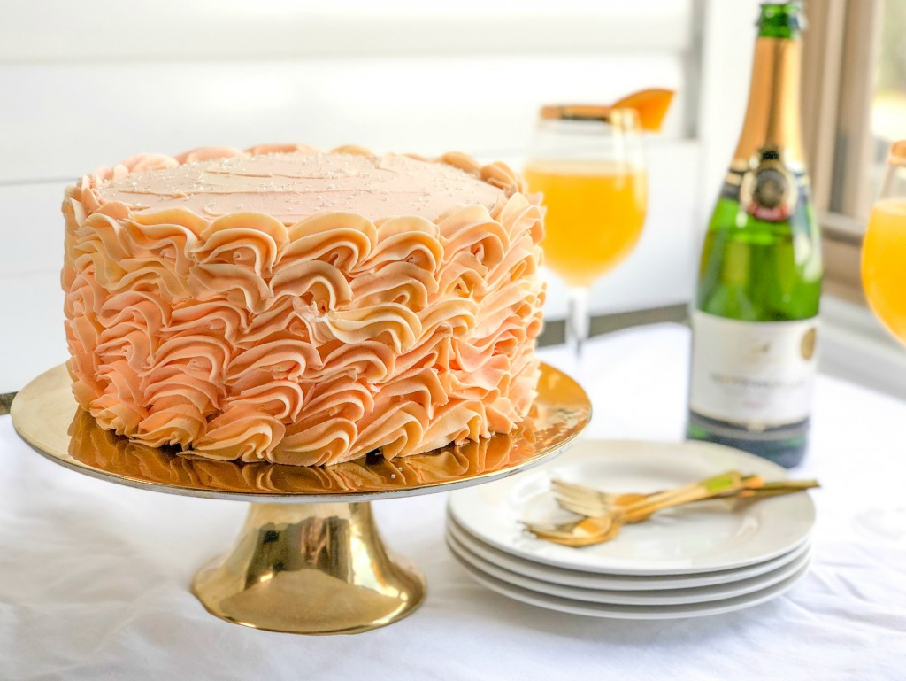 Grapefruit Orange Mimosa Cake