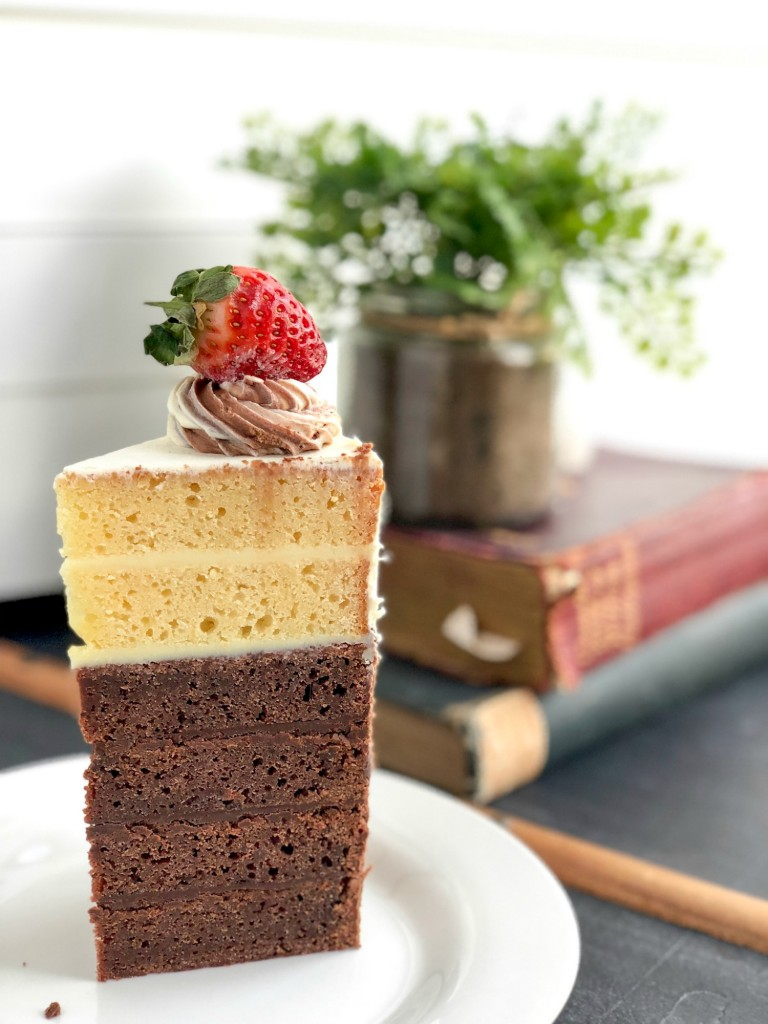 Top Deck cake slice