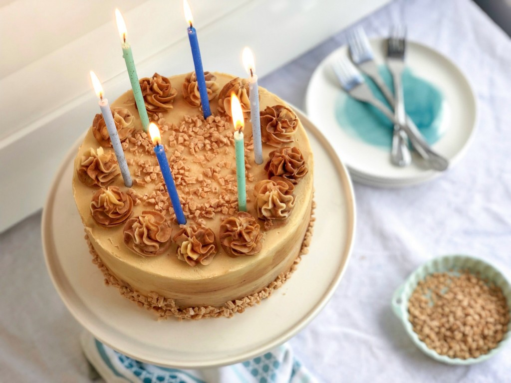 Butterscotch Tofee Bourbon Cake