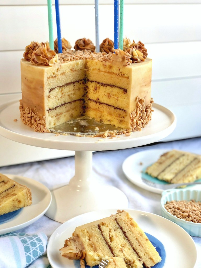 Toffee Butterscotch Bourbon Cake Recipe