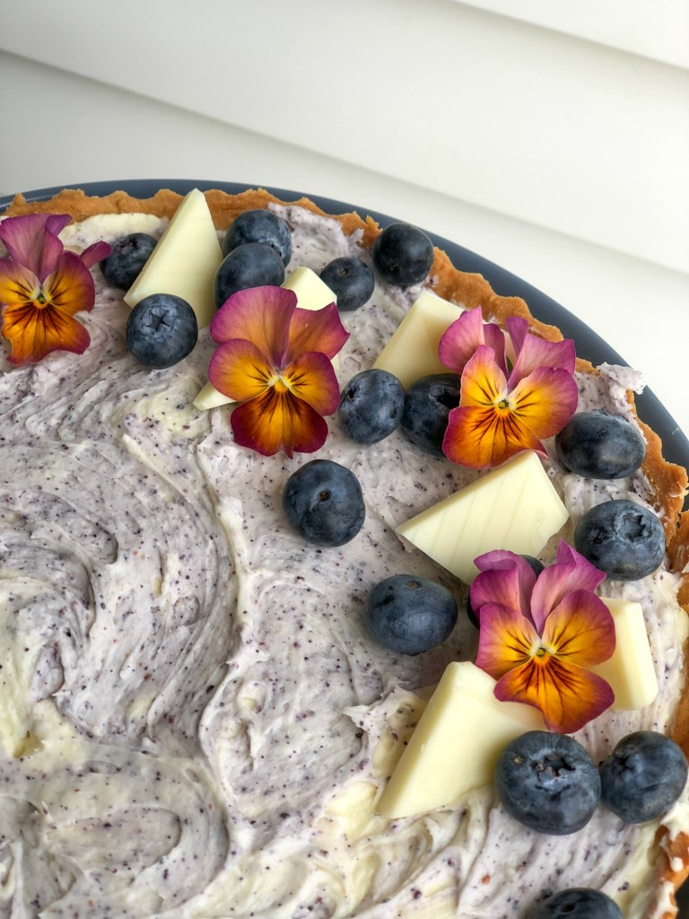 White Choc Blueberry Cream Cheese Tart