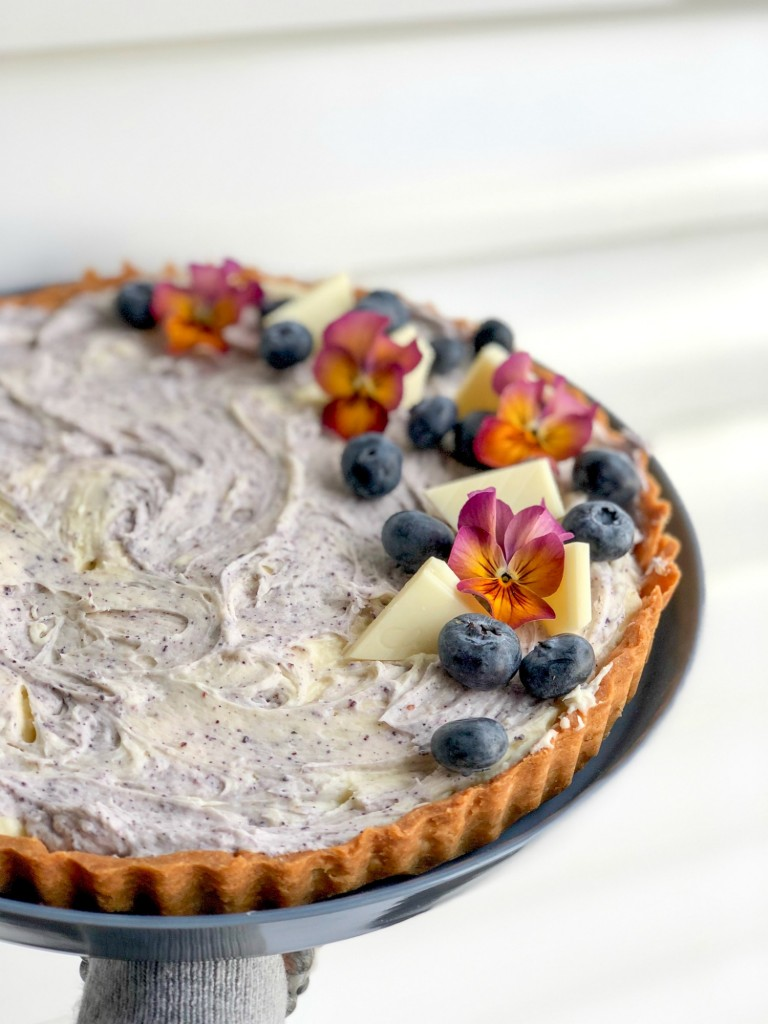 White Chocolate Blueberry Cream Cheese Tart